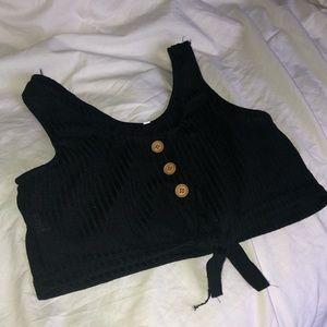 black tie crop top